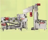 Voran WA LC40 wash mill with elevator (right) and Voran EBP580 belt press (available separately)