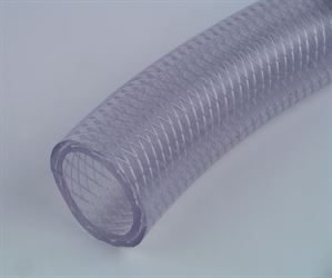 Clear PVC hose with braid reinforcement