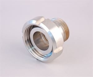 "1¼"" BSP male x DIN 32 female stainless steel adaptor"