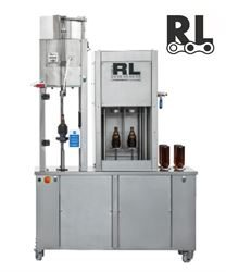 Semi-auto Triblock 2-2-1 (SAV2-RLV ISO RLC1) counter pressure filler with rinsing and crown capping functions