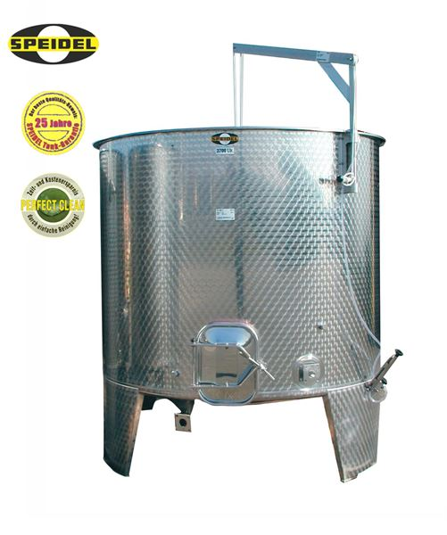 Speidel variable capacity stainless steel tank for red wine - type FO-M