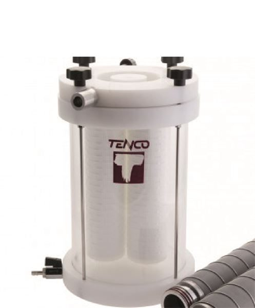 Tandem Professional filter housing for Enolmaster vacuum filler (available separately) - NB The filter cartridges shown are not included and are available separately.