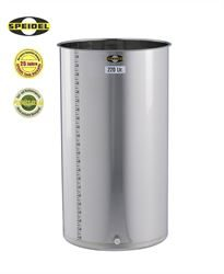 220 litre Speidel BO type variable capacity flat bottomed stainless steel tank