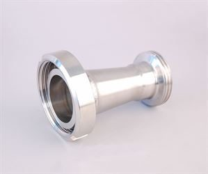 DIN 50 female x DIN 40 male x stainless steel adaptor