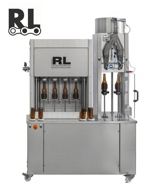 Semi-auto Triblock 4-4-2 (SAV4-RLV ISO RLC1) counter pressure filler with rinsing and crown capping functions