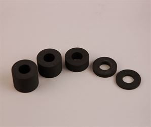 Set of 5 split spacers (3mm to 25mm height range) for gravity filler nozzles