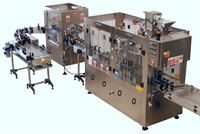 A bottling and labelling line supplied, installed and commissioned by Vigo