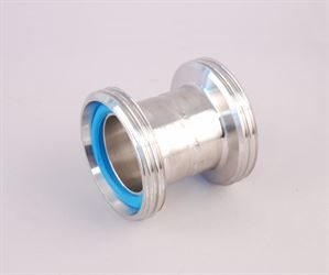 DIN 40 male x DIN 40 male adaptor (stainless steel)