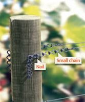Crapal nail in use with chains (sold separately)