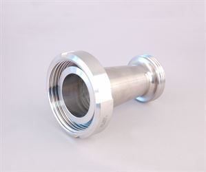 "DIN 50 female x 1½"" RJT male stainless steel adaptor"