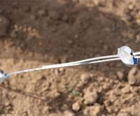 Showing the GPAK's Gripple tensioner in place on the GPAK's wire rope