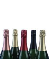 Champagne foils (available separately) shown applied to bottle