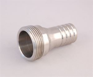 """1¼"""" BSP male x 25mm stainless steel hosetail"""