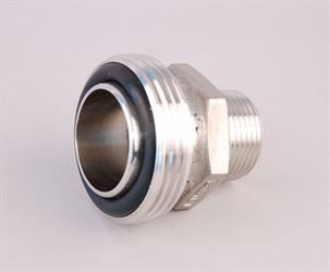 "1"" BSP male x 1½"" RJT male stainless steel adaptor"