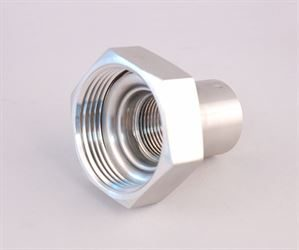 "1"" BSP female  x 1½"" RJT female adaptor (stainless steel)"
