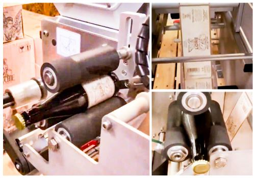 Gritchie Brewing Company - semi-automatic labelling machine for bottle conditioned range
