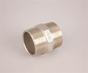 "1½"" BSP male x 1½""  BSP male stainless steel hexagon nipple"