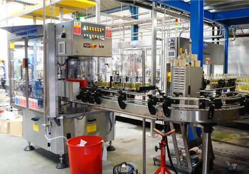 Sandford Orchards - bottling line