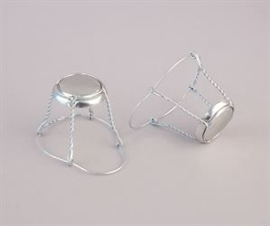 Champagne wire muzzles/cages with cap