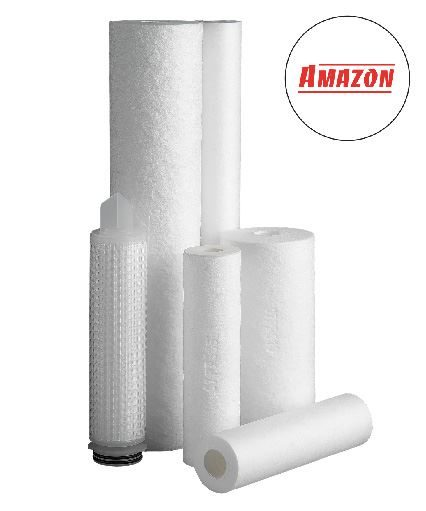 The SupaGard range of Amazon filters (different sizes shown) - NB The SupaGards we stock are all double open ended (DOE) - this photo includes DOE and other end types.