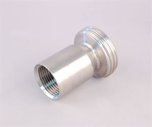 "1"" BSP female x DIN 25 male stainless steel adaptor"